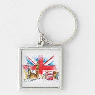 Chaveiro Anel chave do botão básico de Londres Big Ben 5,7