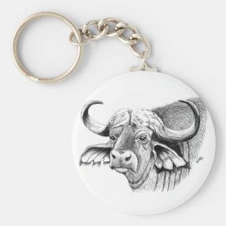 Chaveiro Anel chave do botão básico do búfalo 5,7 cm