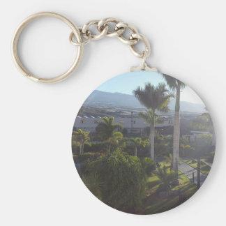 Chaveiro Anel chave do botão da paisagem de Tenerife