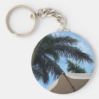 Chaveiro Anel chave do botão da palmeira de Tenerife