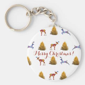 Chaveiro Anel chave do botão festivo do Natal