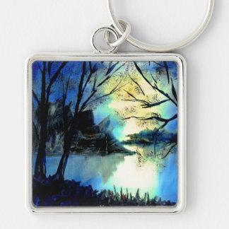 Chaveiro Anel chave do lago misterioso sunset do
