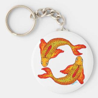 Chaveiro Anel chave do sinal do zodíaco dos peixes dos