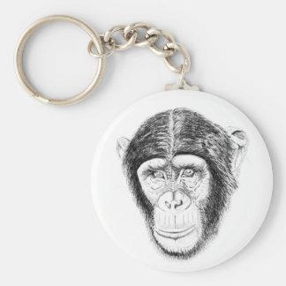 Chaveiro Anel chave dos animais selvagens de Chipanzee