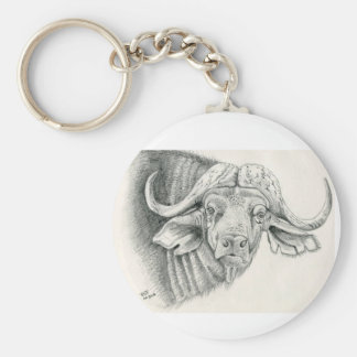 Chaveiro Anel chave dos animais selvagens do búfalo do cabo