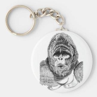 Chaveiro Anel chave dos animais selvagens do gorila de
