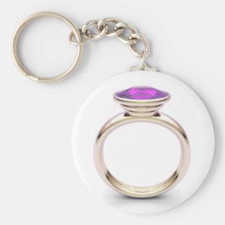 Chaveiro Anel de ouro cor-de-rosa