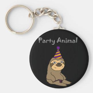Chaveiro Animal de partido bonito engraçado da preguiça