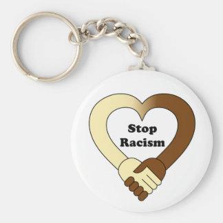 Chaveiro Anti logotipo do aperto de mão do racismo