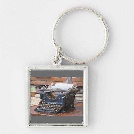 Chaveiro antigo da máquina de escrever