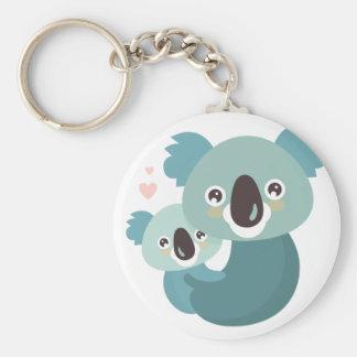 Chaveiro Aperto doce da mãe e do bebê do koala dos desenhos