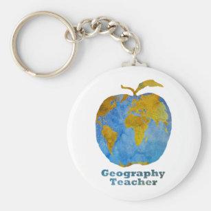 Chaveiro Apple do professor da geografia