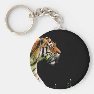 Chaveiro Aproximação do tigre - trabalhos de arte do animal