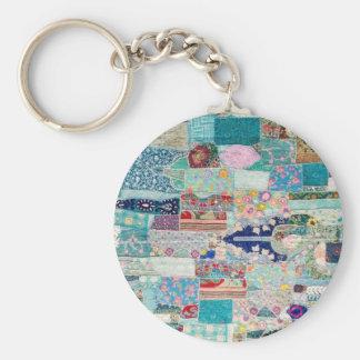 Chaveiro Aqua e design azul da tapeçaria da edredão