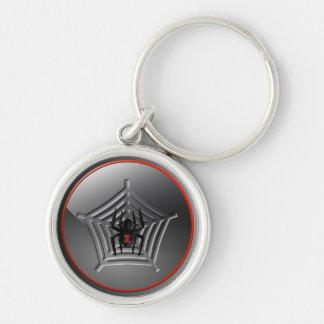 Chaveiro Aranha assustador da viúva negra do Dia das Bruxas