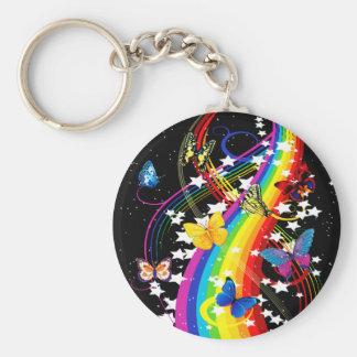 Chaveiro Arco-íris da borboleta