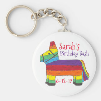 Chaveiro Arco-íris personalizado Piñata do favor de festa