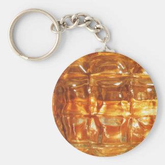 Chaveiro Arte abstracta de vidro de cobre
