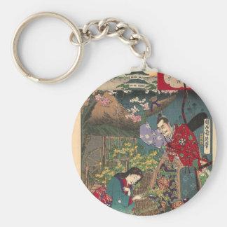 Chaveiro Arte bonita japonesa do samurai da gueixa