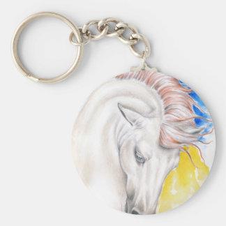 Chaveiro Arte da aguarela do cavalo