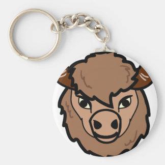 Chaveiro arte da cara do bisonte