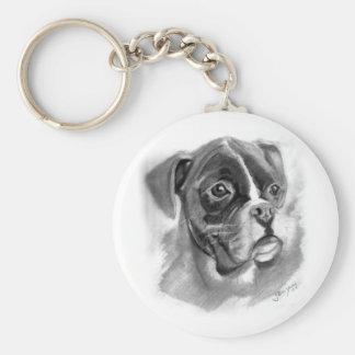 Chaveiro Arte do cão do pugilista