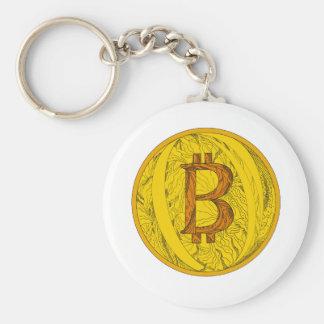 Chaveiro Arte do Doodle de Bitcoin