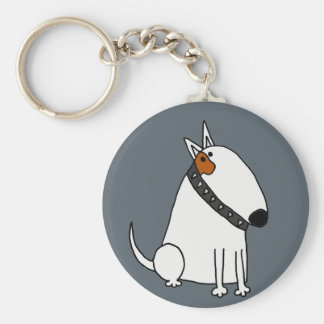 Chaveiro Arte engraçada do cão de bull terrier
