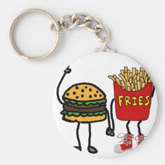 Chaveiro Arte engraçada do Hamburger e dos desenhos