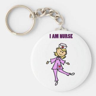 Chaveiro Arte feliz da enfermeira da dança