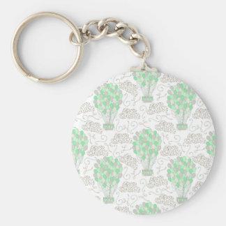 Chaveiro Arte verde da decoração do berçário dos balões de