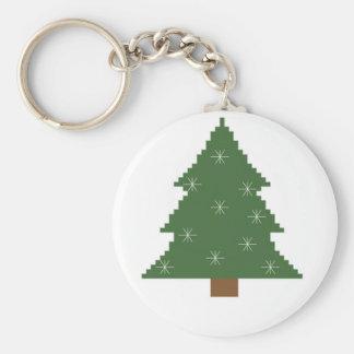 Chaveiro Árvore de Natal com estrelas