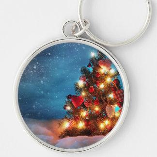 Chaveiro Árvore de Natal - decorações do Natal - flocos de