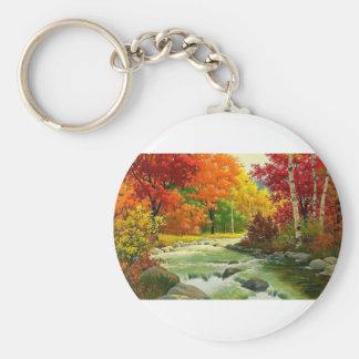 Chaveiro Árvores do outono pelo rio
