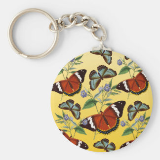 Chaveiro as borboletas misturam o amarelo