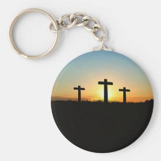 Chaveiro As cruzes da crucificação no por do sol