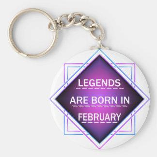 Chaveiro As legendas são nascidas em fevereiro