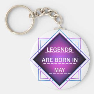 Chaveiro As legendas são nascidas em maio