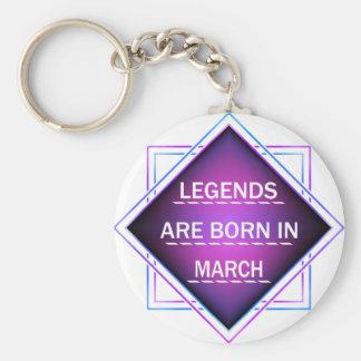 Chaveiro As legendas são nascidas em março