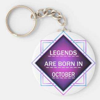 Chaveiro As legendas são nascidas em outubro