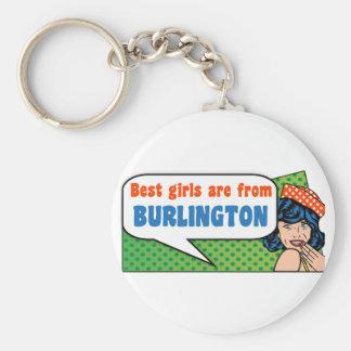 Chaveiro As melhores meninas são de Burlington
