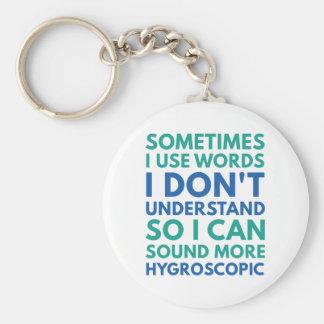 Chaveiro Às vezes eu uso palavras