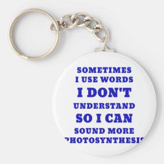 Chaveiro Às vezes eu uso palavras que eu não compreendo