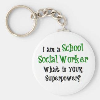 Chaveiro assistente social da escola