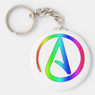 Chaveiro Ateu do arco-íris