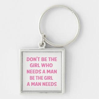 Chaveiro Atitude, poder cor-de-rosa da menina, feminismo,