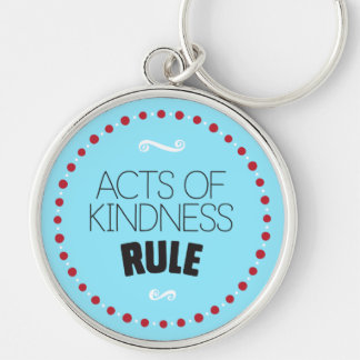 Chaveiro Atos da regra da bondade - azul