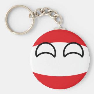 Chaveiro Áustria Geeky de tensão engraçada Countryball