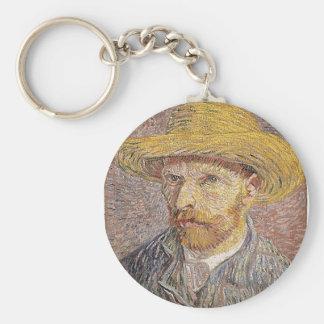 Chaveiro Auto-Retrato com um chapéu de palha - Van Gogh