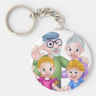 Chaveiro Avós e netos dos desenhos animados